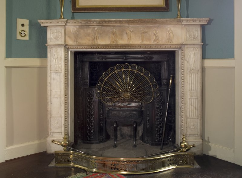 Interior. Ground floor, morning room, detail of fireplace