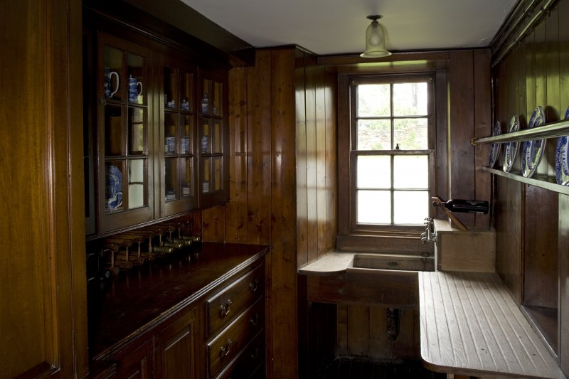Interior. Ground floor, butler's pantry, view from NW