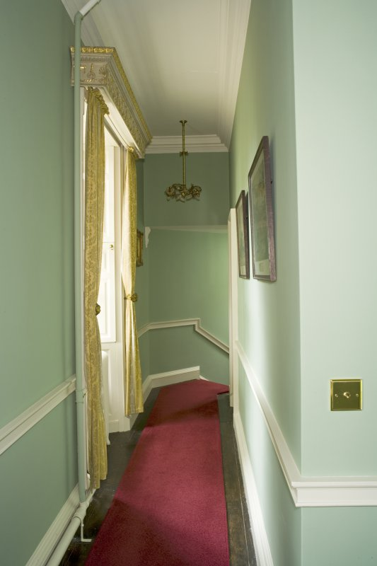 Interior. Ist floor, corridor, view from SW