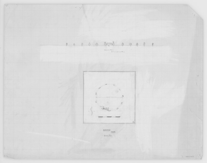 Plan & Section, EASTER AQUHORTHIES (RECUMBENT STONE CIRCLE)