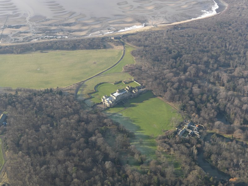 General oblique aerial view centred on the country house, taken from the E.