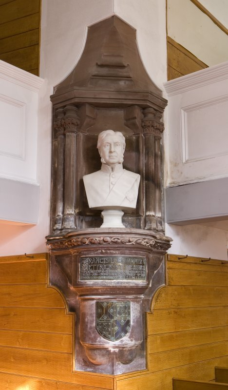 Detail of monument to Francis Lord Napier & Ettrick (1819-1898) in the Parish Church of Ettrick & Buccleuch