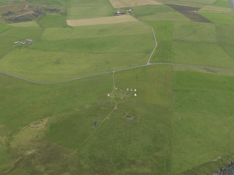 General oblique aerial view centred on the radar station, taken from the NNW.