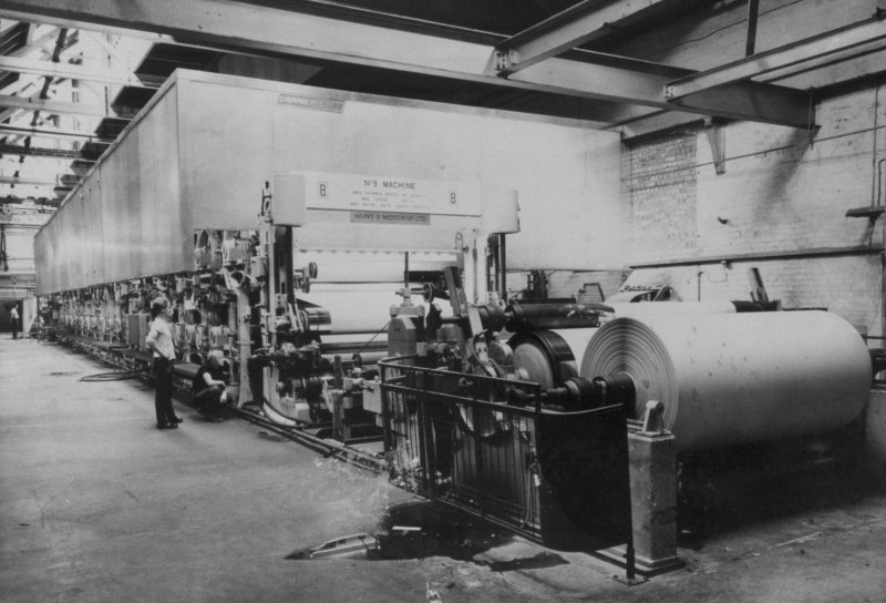 Copy of photograph of Paper Machine no. 6 (PM6)