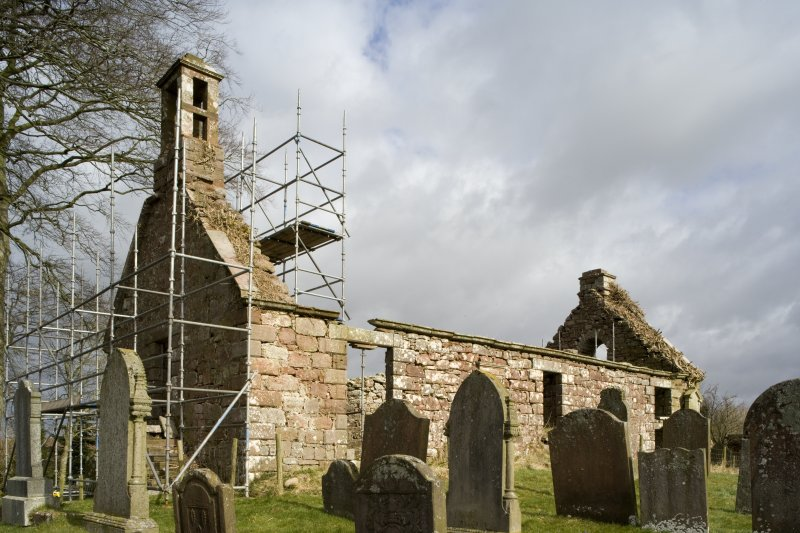 View of S and W elevations of Dalton Old Parish Church from SW