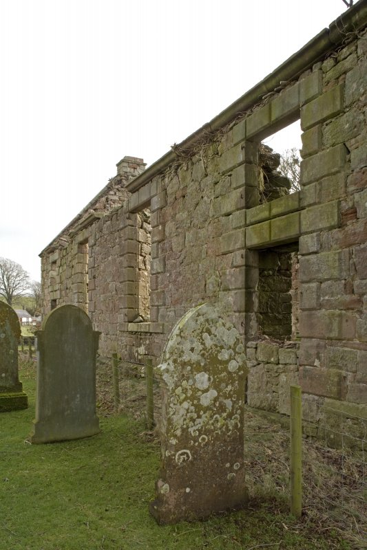 View along N elevation of Dalton Old Parish Church, taken from WNW