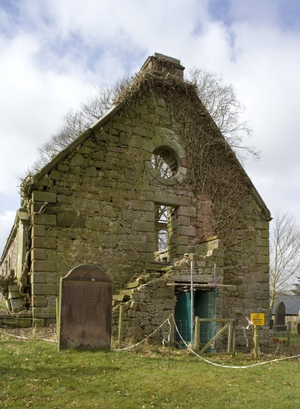 View of the gabled E elevation of Dalton Old Parish Church