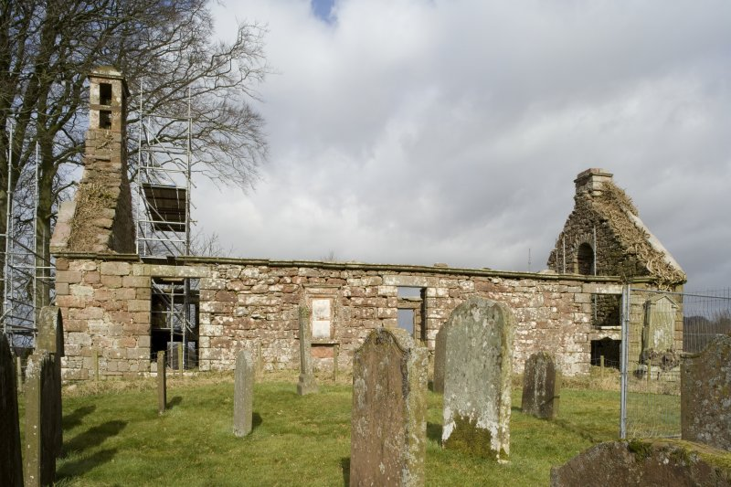 View of S elevation of Dalton Old Parish Church