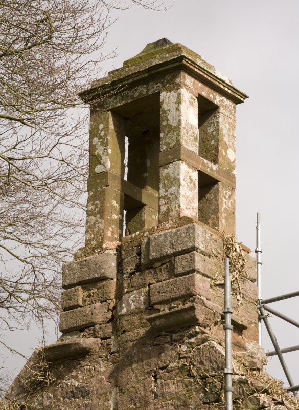 Detail of birdcage bellcote at apex of W gable at Dalton Old Parish Church