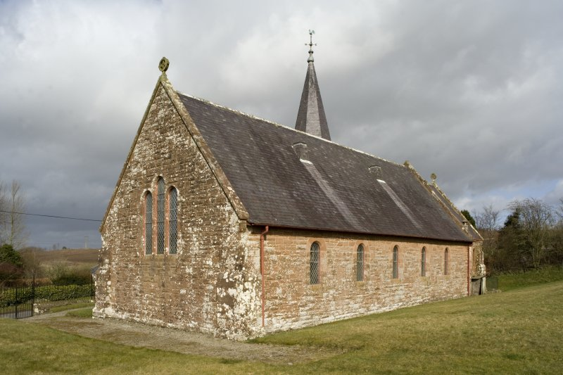 View of Dalton Parish Church from WSW, showing S and W elevations