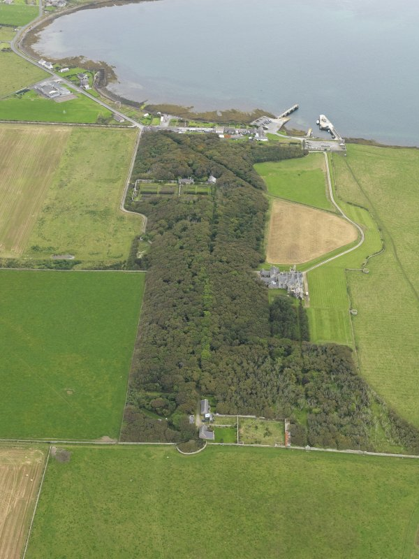 General oblique aerial view centred on the country house and policies, taken from the W.