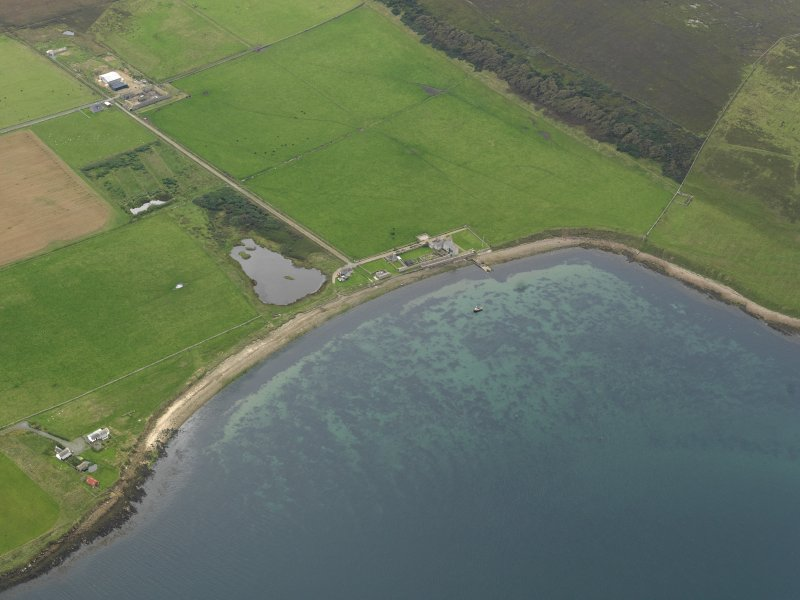 General oblique aerial view centred on Carrick House, taken from the NE.