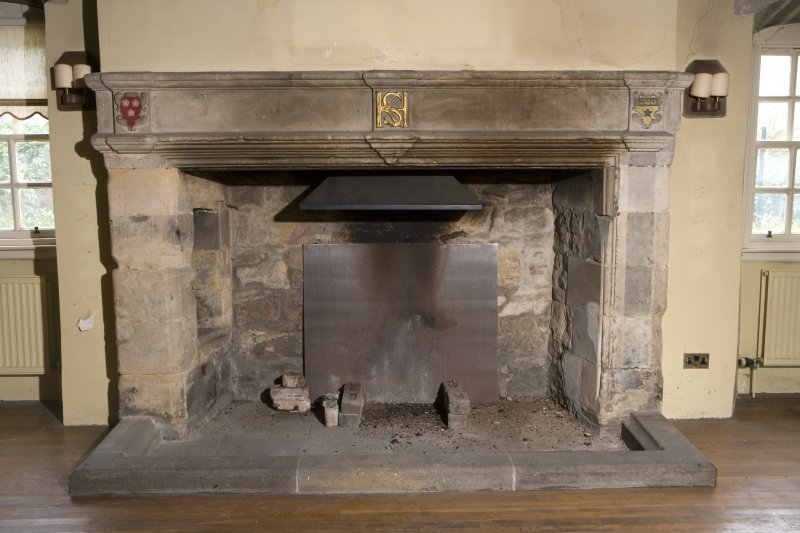 Interior. Ground Floor main hall, detail of fireplace