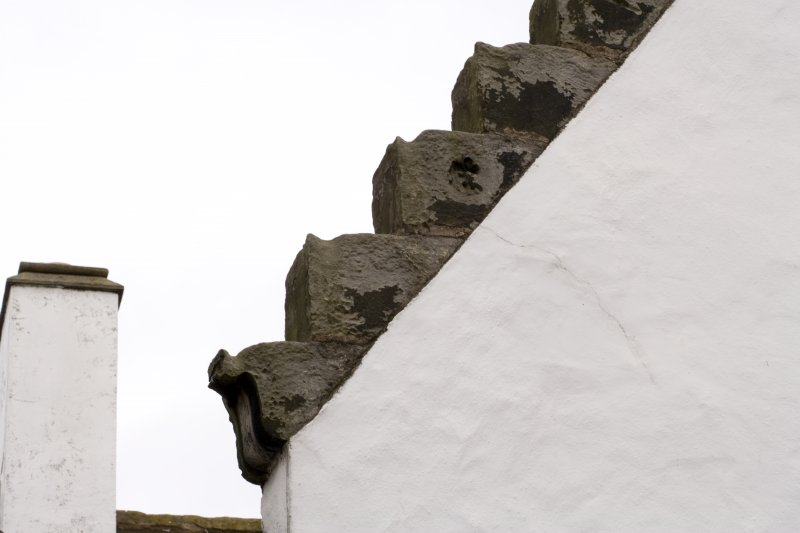 Detail of crowstep gable