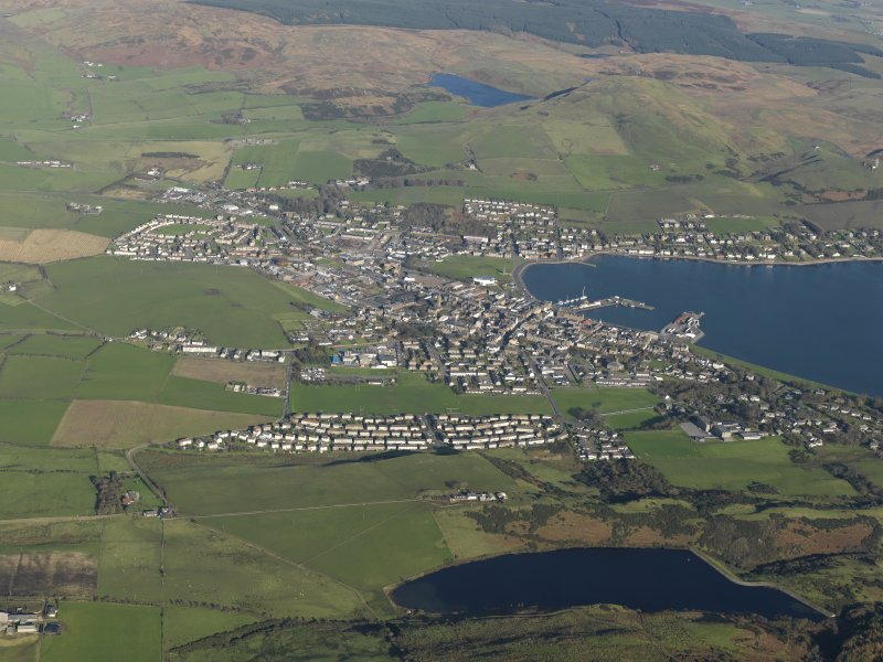 General oblique aerial view of Campbeltown, taken from the S.