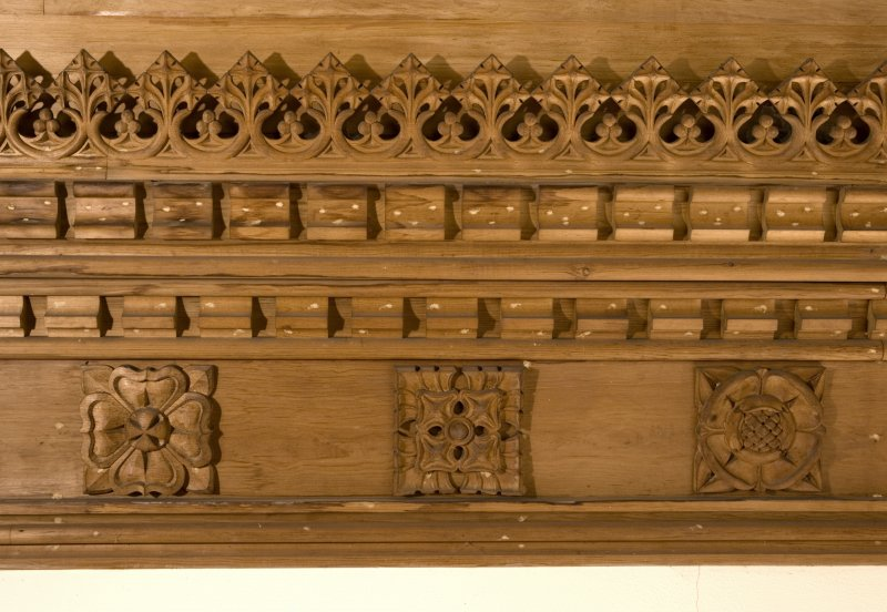 Interior. Detail of carved cornice