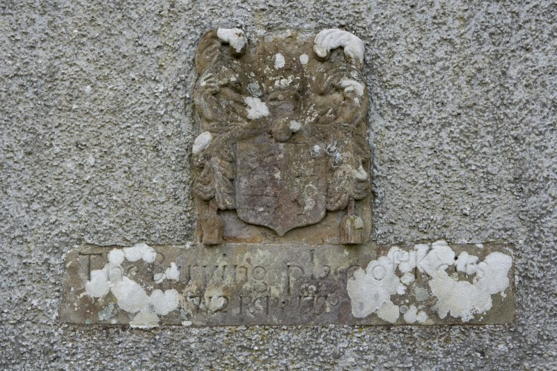 Detail of plaque to Keirs on N wall