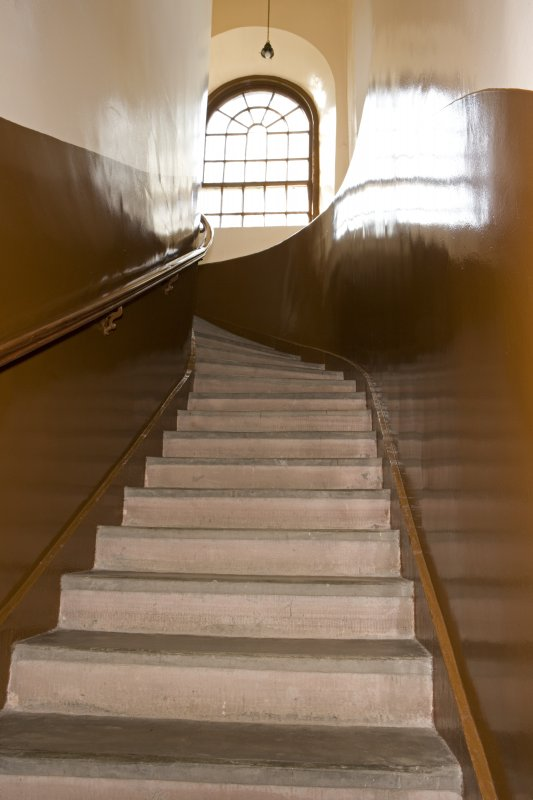 Interior. View of stair to tower