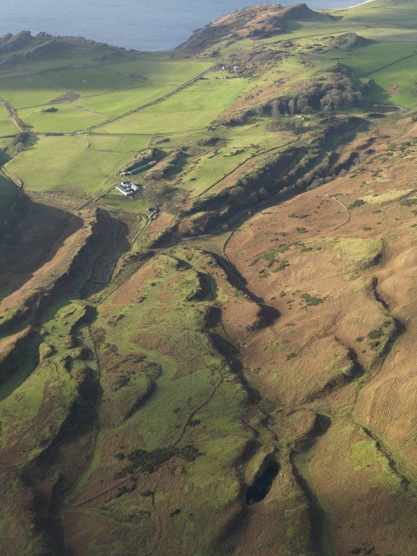 General oblique aerial view looking towards Dunagoil Bay, taken from the SE.