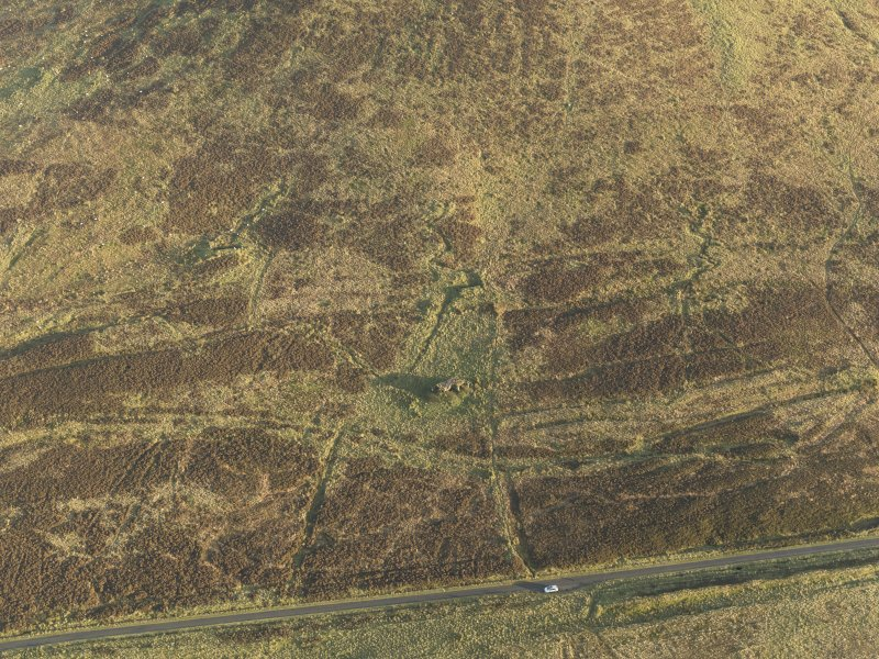 Oblique aerial view of the remains of the military training site centred on the atlantic wall, taken from the WNW.