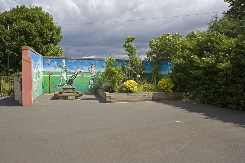 Detail of play area and mural from S.