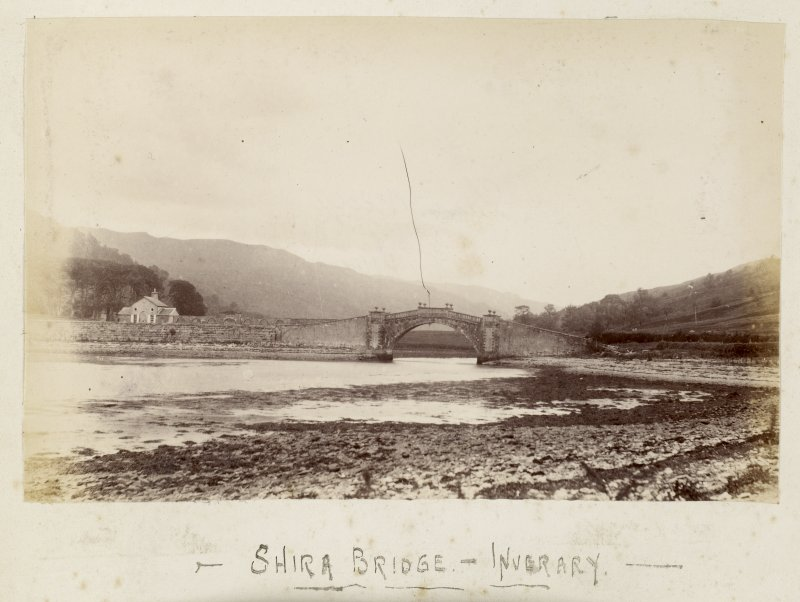 View from E. Titled: 'Shira Bridge - Inverary'