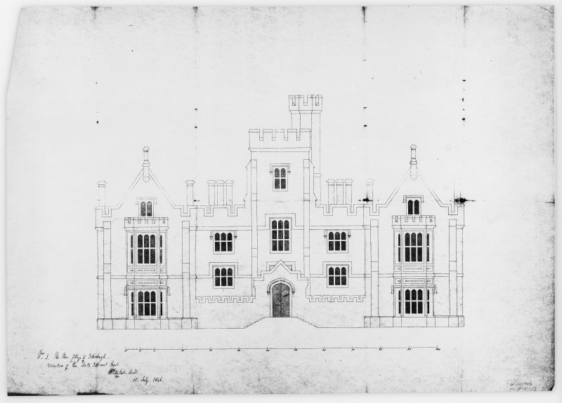 Mechanical copy of plan 'No. 3 The New College of Edinburgh. Elevation of the South External Front.'