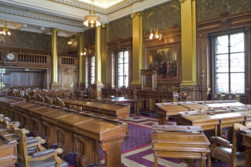Interior. Main Council Chamber.