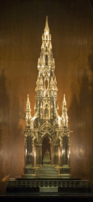 Interior. Model of Scott Monument.
