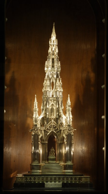 Interior. Scott Monument model (composite photograph).