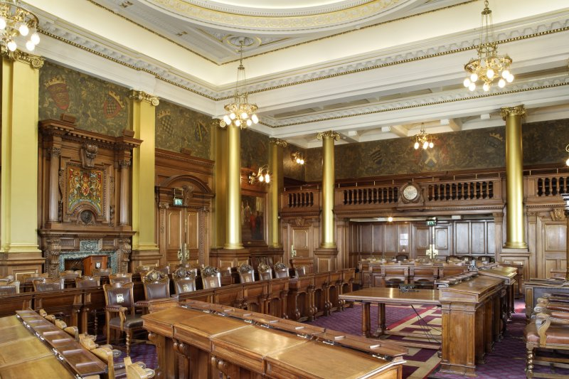 Interior. Main Council Chamber (composite photograph).