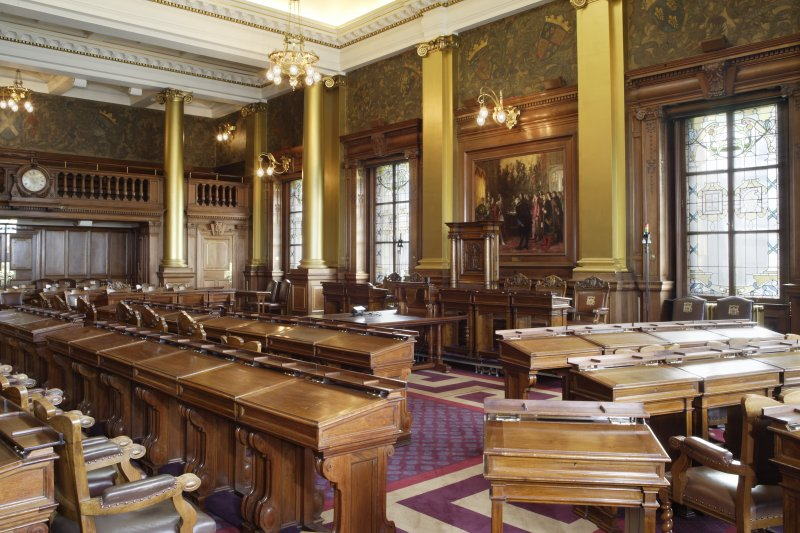 Interior. Composite photograph of Main Council Chamber