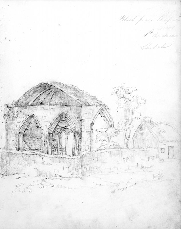 Sketch of Blackfriars Chapel, St Andrews.