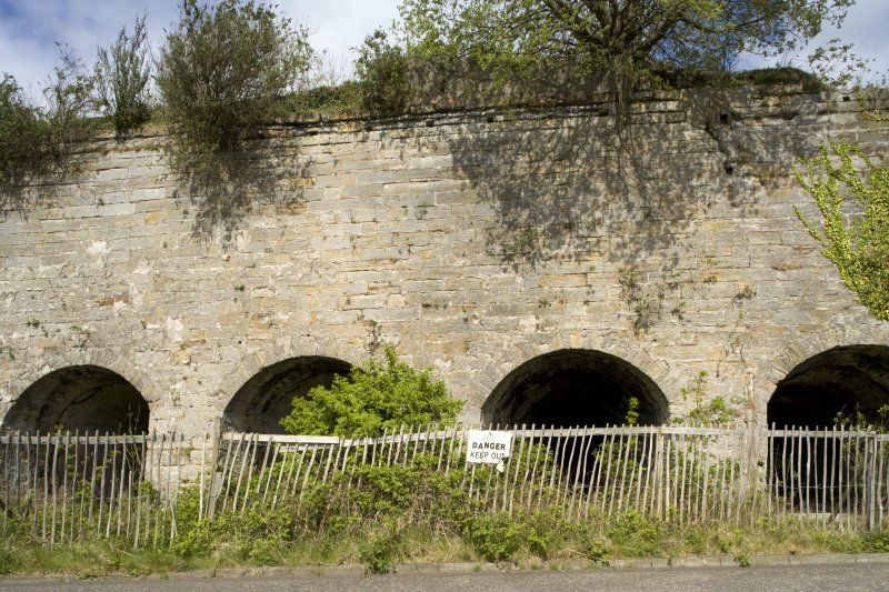 Limekilns, detail of arched openings
