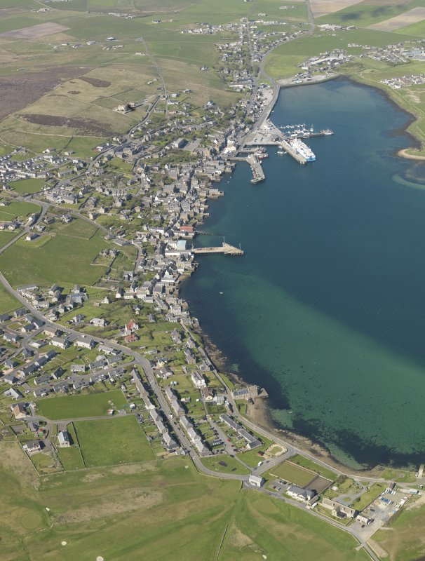 General oblique aerial view of Stromness, taken from the S.