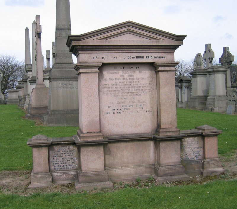 View of monument in memory of Hugh Reid.