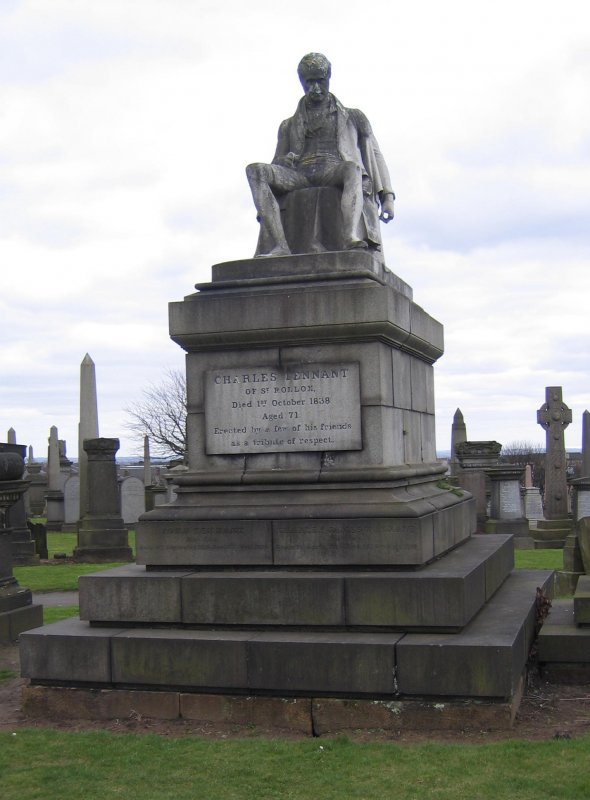 View of monument in memory of Charles Tennent.