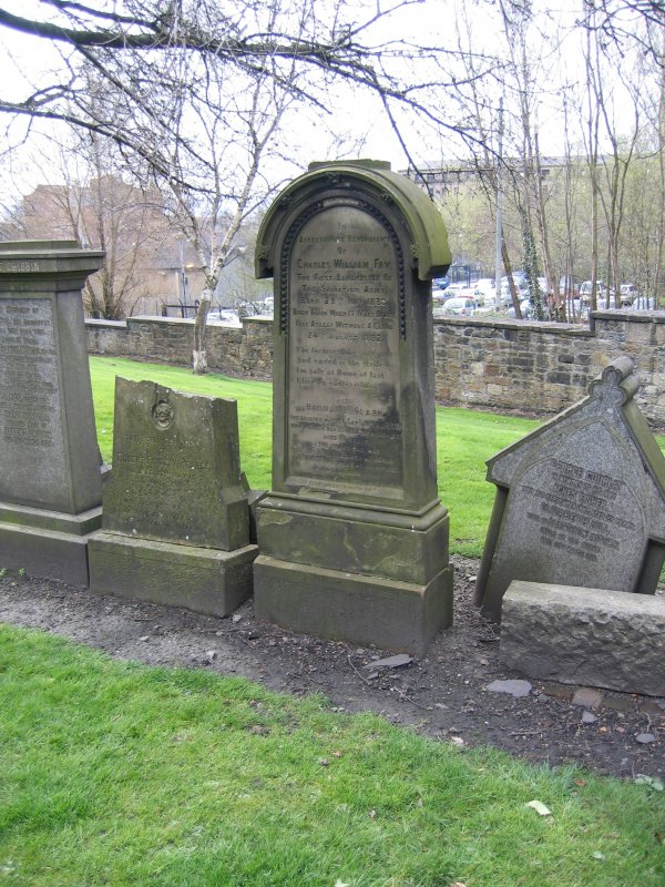 View of headstone in memory of Charles William Fry.
