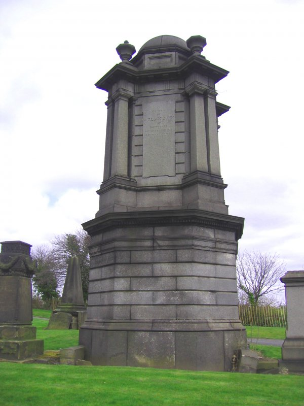 View of monument in memory of William Dunn.