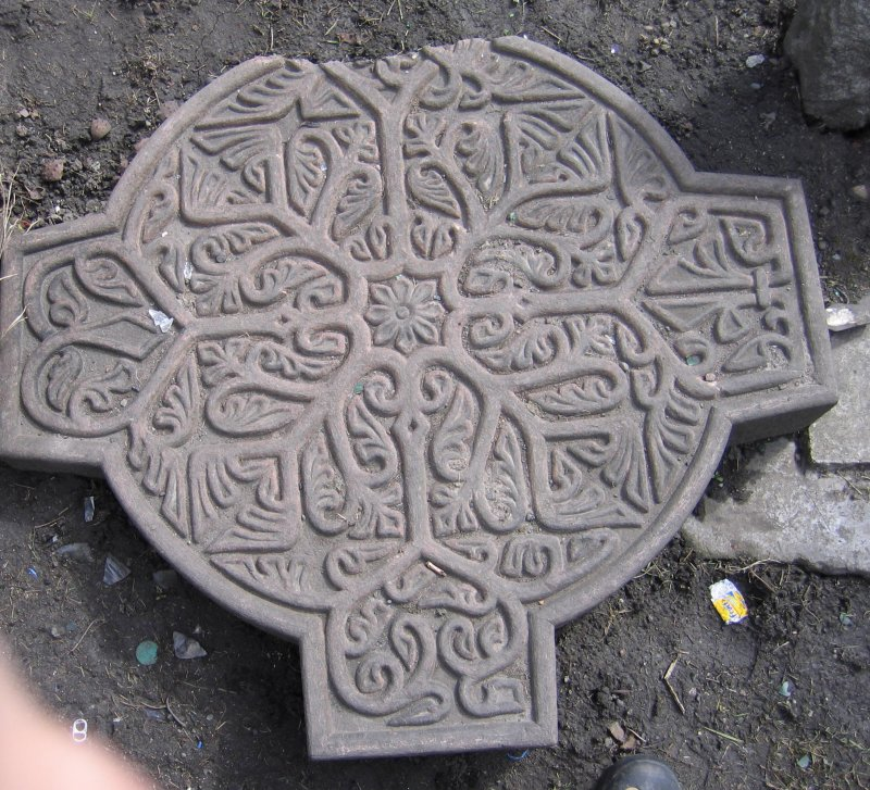Detail from celtic cross.
