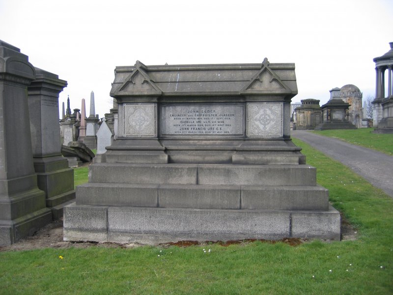 View of chest tomb in memory of John Elder.