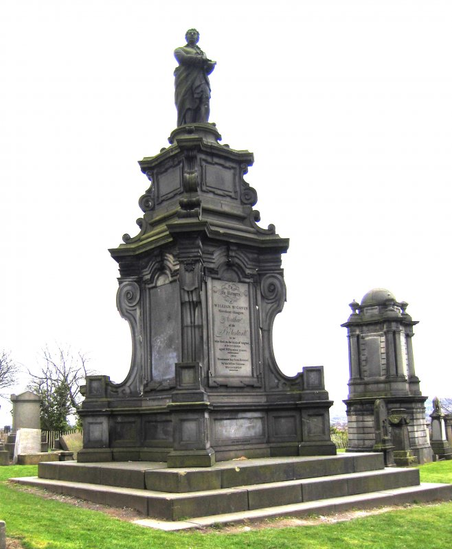 View of monument in memory of William McGavin.
