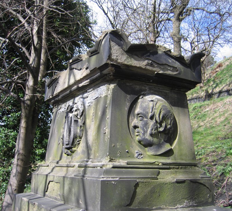 View of chest tomb in memory of Alexander Rodger.