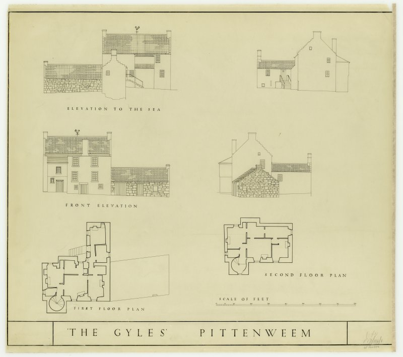 Elevations: Plans, 1st and 2nd Floors