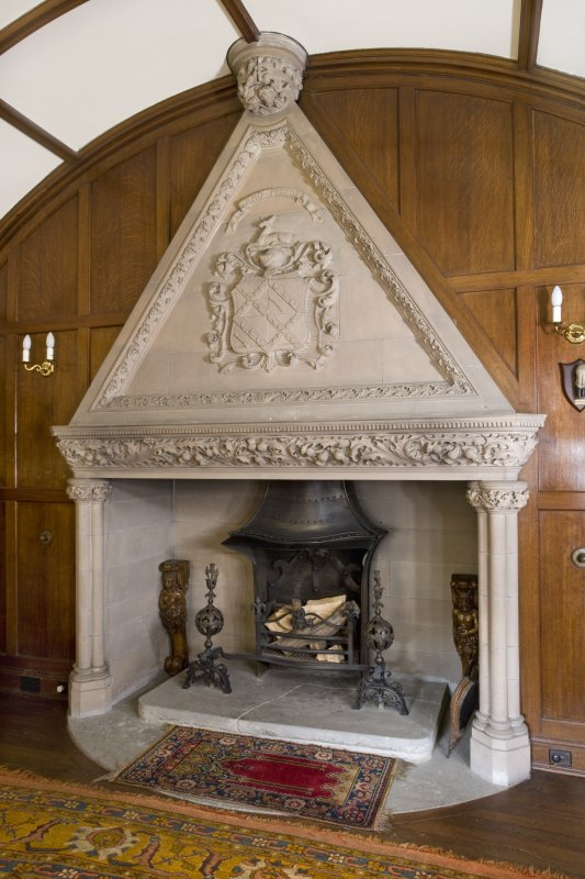 Blair Castle. Ground floor. Old kitchen. Fireplace. Detail
