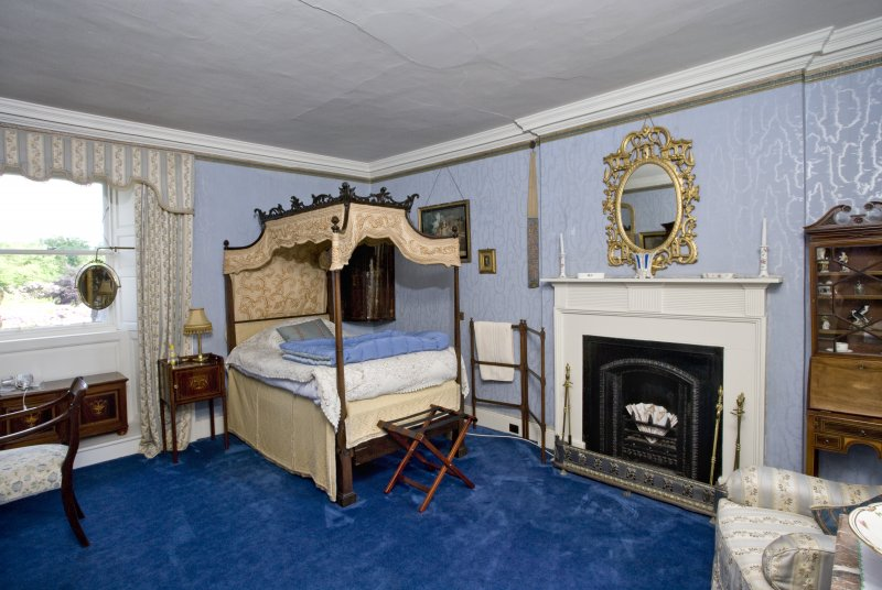 Interior. 2nd floor. Tower. 'Blue' bedroom
