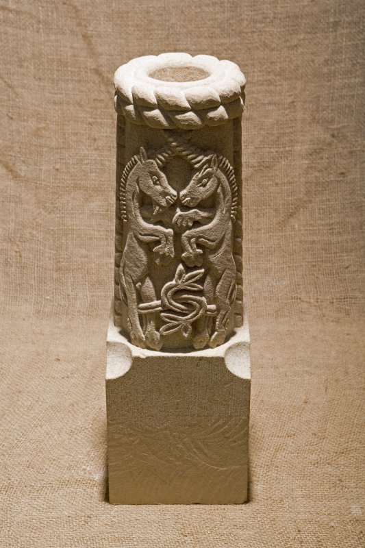 New carved  false spout with affronted unicorns (flash)