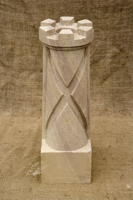 New carved  false spout with saltire (daylight)