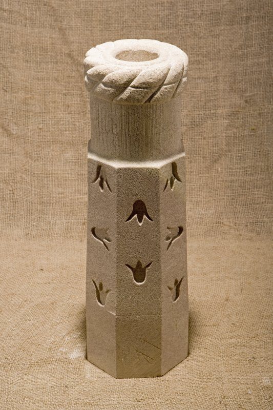 New carved  false spout with Scottish bluebell motif (flash)