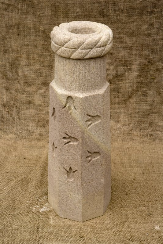 New carved  false spout with Scottish bluebell motif (daylight)